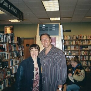 Laura With Author Nicholas Sparks