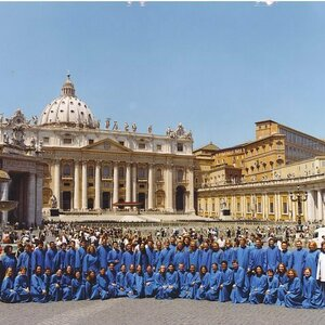 Notre Dame Liturgical Choir In Front Of St