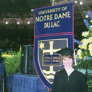Laura Hoffman Notre Dame Graduation Day May 16 2004
